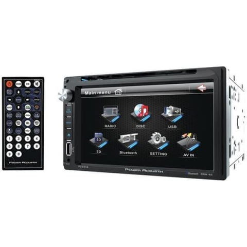 "6.5"" Double-DIN In-Dash LCD Touchscreen DVD Receiver (With Bluetooth(R))"