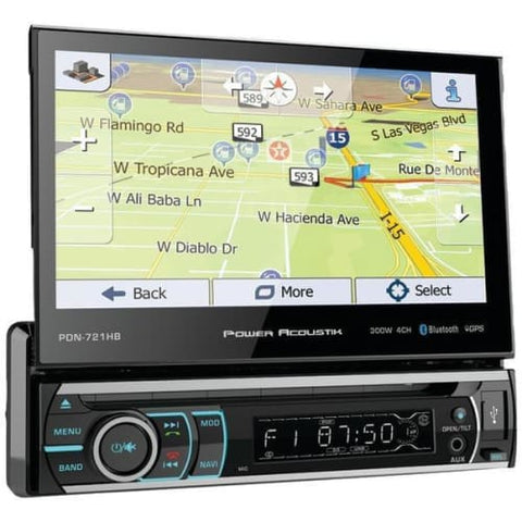 "7"" Incite Single-DIN In-Dash GPS Navigation Motorized LCD Touchscreen DVD Receiver with Detachable Face & Bluetooth(R)"