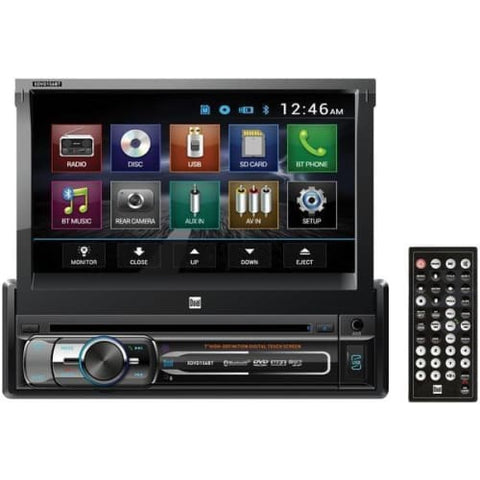 "7"" Single-DIN In-Dash DVD Receiver with Bluetooth(R) & Motorized screen"