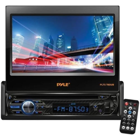 "7"" Single-DIN In-Dash DVD Receiver with Motorized Fold-out Touchscreen"