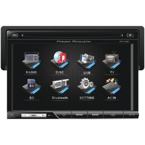"7"" Single-DIN In-Dash LCD Touchscreen DVD Receiver with Detachable Face"