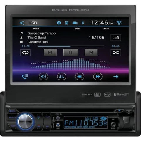 "7"" Single-DIN In-Dash Motorized LCD Touchscreen DVD Receiver W Bluetooth(R)"
