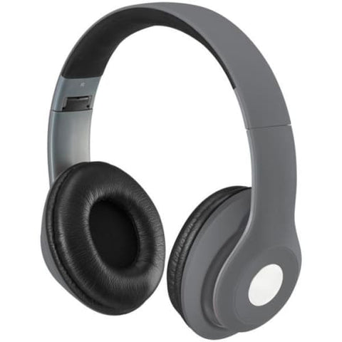 Bluetooth(R) Over-the-Ear Headphones with Microphone (Matte Gray)