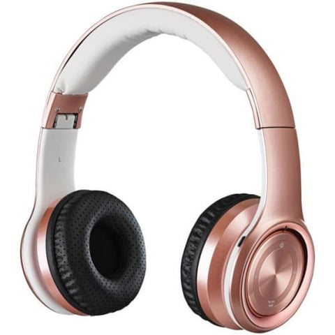 Bluetooth(R) Over-the-Ear Headphones with Microphone (Rose Gold)