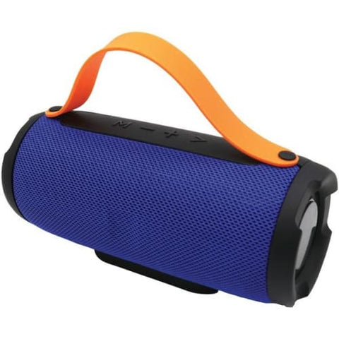 Bluetooth(R) Portable Speaker with Built-in Strap (Blue)