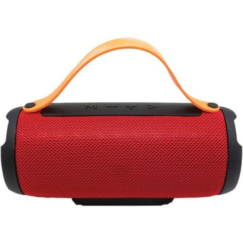 Bluetooth(R) Portable Speaker with Built-in Strap (Red)