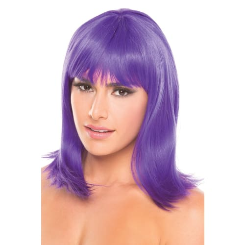 BW093PR Doll Wig Purple - Purple / Female / O/S - Wigs