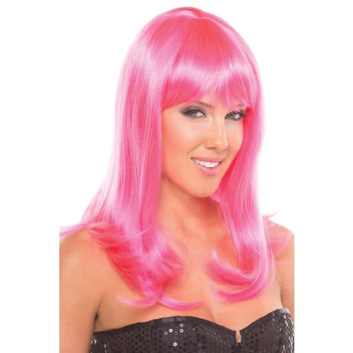 BW094HP Hollywood Wig Hot Pink - Hot Pink / Female / O/S - Wigs