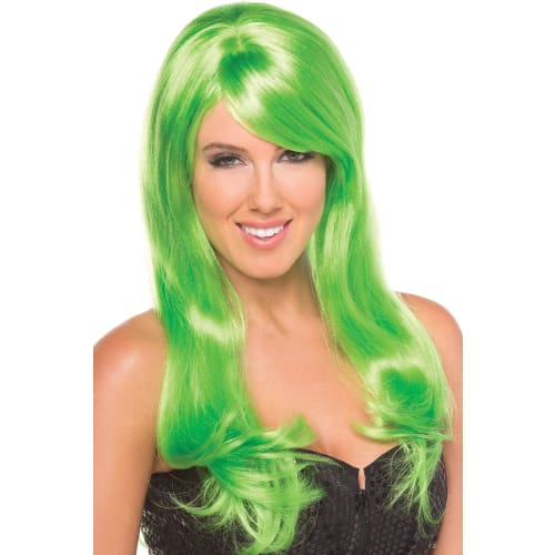 BW095GR Burlesque Wig Green - Green / Female / O/S - Wigs
