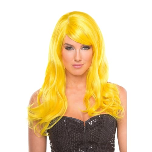 BW095YW Burlesque Wig Yellow - Yellow / Female / O/S - Wigs