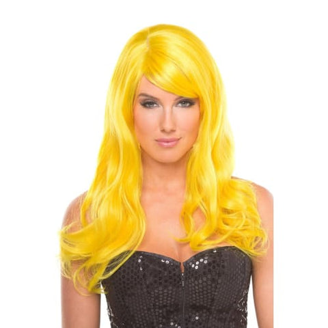 BW095YW Burlesque Wig Yellow