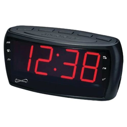 Digital AM-FM Dual Alarm Clock Radio with Jumbo Digital Display - Portable & Personal Electronics