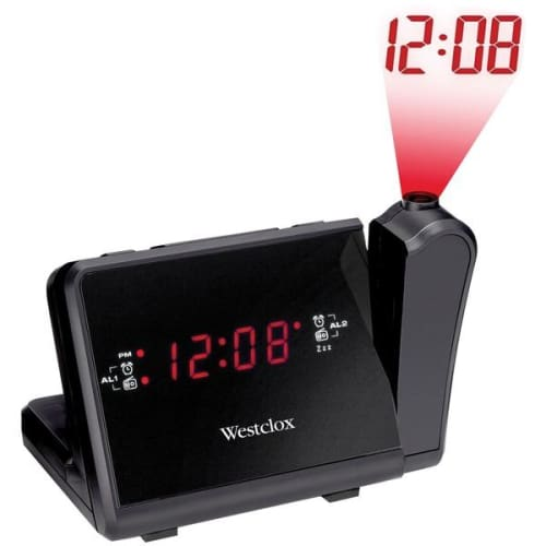 Digital LCD Projection Alarm Clock with AM-FM Radio - Portable & Personal Electronics