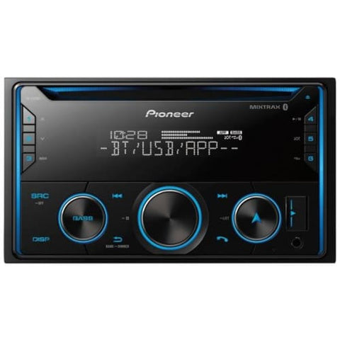 Double-DIN In-Dash CD Receiver with Bluetooth(R)