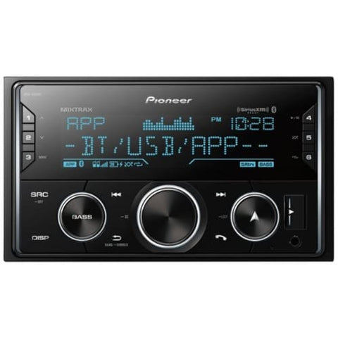 Double-DIN In-Dash Digital Media Receiver with Bluetooth(R) and SiriusXM(R) Ready