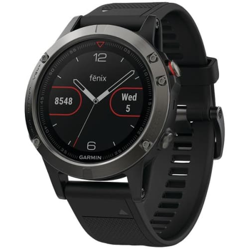 fenix(R) 5 47mm Multisport GPS Watch (Slate Gray with Black Band) - Outdoor Recreation & Fitness