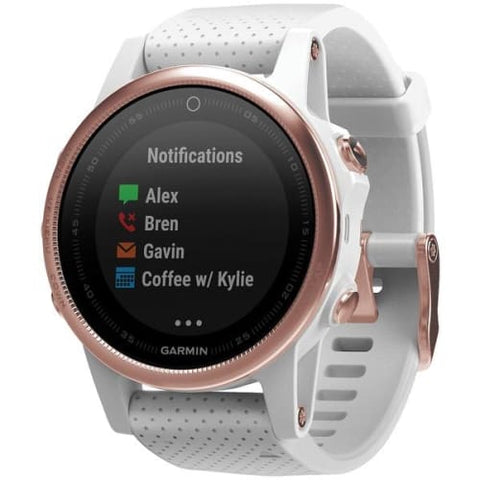 fenix(R) 5S 42mm Multisport GPS Watch Sapphire Edition (White with Rose Goldtone; Without Silicone Quickfit(TM) 20 Band)
