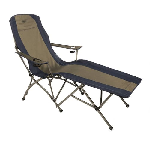 Kamp-Rite Soft Arm Lounger - Tan Blue - Sporting Goods