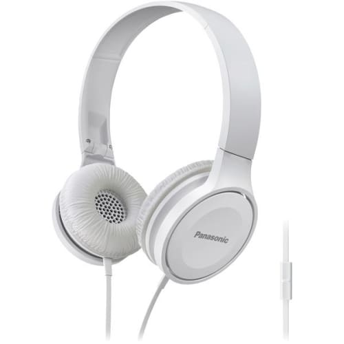 Lightweight On-Ear Headphones with Microphone (White) - Portable & Personal Electronics