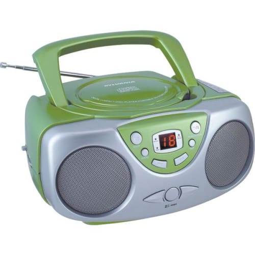 Portable CD Boom Box with AM-FM Radio (Green) - Portable & Personal Electronics