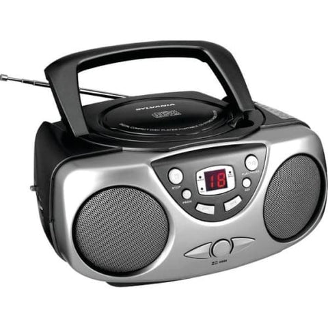 Portable CD Boom Boxes with AM-FM Radio (Black)