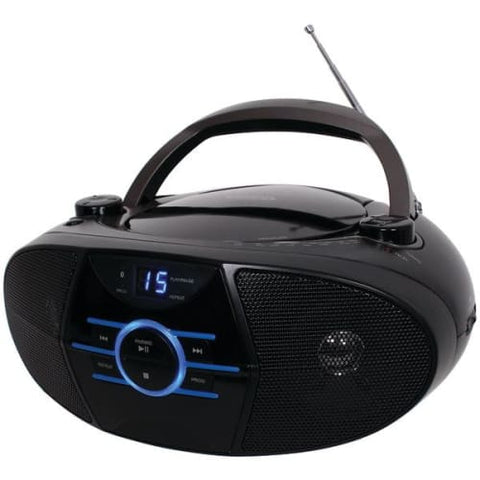 Portable Stereo CD Player with AM-FM Stereo Radio & Bluetooth(R)