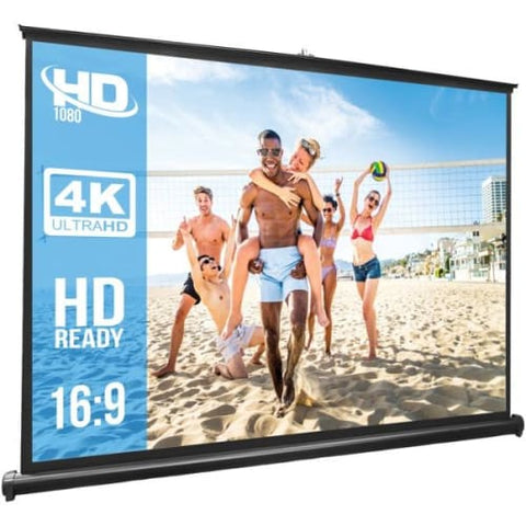 Retractable Pull-out-Style Manual Projector Screen (50-Inch)