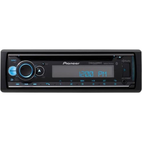 Single-DIN In-Dash CD Receiver with Bluetooth(R), HD Radio(TM), and SiriusXM