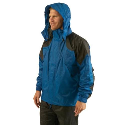Texsport Amr. Clipper Deluxe Rain Jackets LG F.Green-Black - Rainsuits