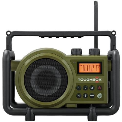 TOUGHBOX FM-AM-Aux Ultra-Rugged Digital Rechargeable Radio - Portable & Personal Electronics