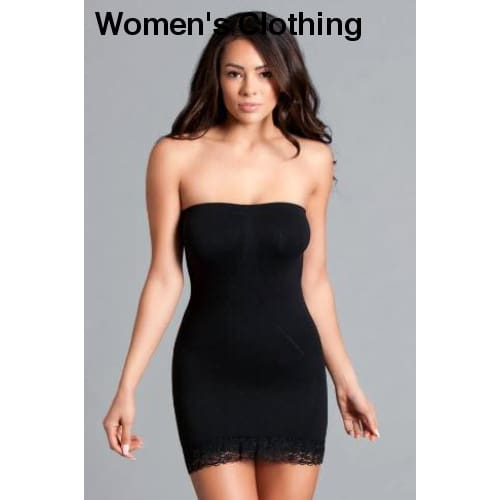 Tube Shapewear Dress - Black - Womens Clothing
