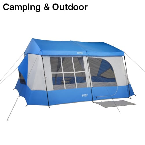 Wenzel Kodiak 9 Person Tent - Blue - Camping & Outdoor