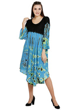"Load image into Gallery viewer, Fall Tie Dye Dress with Sleeves ""Mudmee Style""   free shipping"