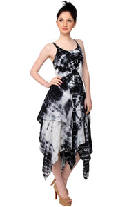 Layered Tie Dye Festival Dress
