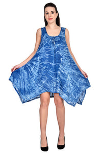 Tie Dye Short Resort Dress with Fairy Hem