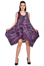 Load image into Gallery viewer, Tie Dye Short Resort Dress with Fairy Hem