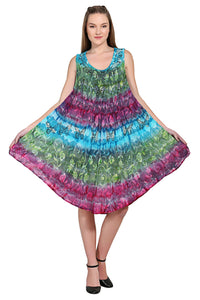 Colorful Tie Dye Butterfly Sundress