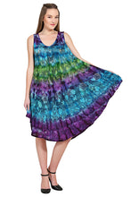 Load image into Gallery viewer, Colorful Tie Dye Butterfly Sundress