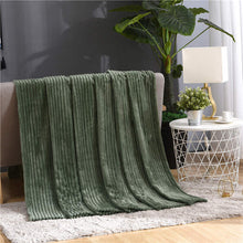 Load image into Gallery viewer, Fluffy Ribbed Super Soft Blankets For Beds Solid Coral Fleece Throws