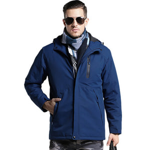 USB Heated Jacket Men Women Plus Size Hiking Coat Waterproof