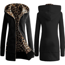 Load image into Gallery viewer, Leopard Oversized Hoodie Coat Autumn Long Zipper Streetwear Outerwear