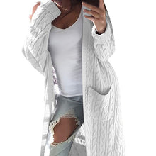 Load image into Gallery viewer, Cozy Casual Long Cardigan Sweater with Pockets Long Sleeve