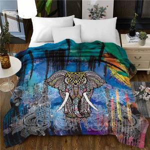 Elephant Super Soft Twin Bed or Throw Blanket