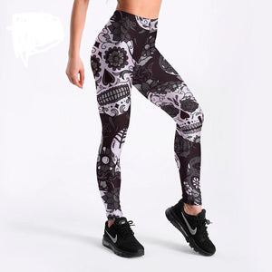 Cute Skull Print Leggings