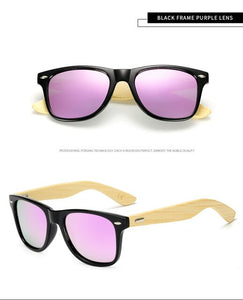 Real Bamboo Women's Designer Polarized Sunglasses Polarized Lens