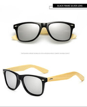 Load image into Gallery viewer, Real Bamboo Women's Designer Polarized Sunglasses Polarized Lens