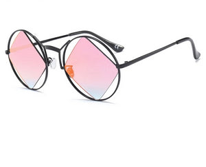 Super Trendy Retro Round Women's High Fashion Sunglasses