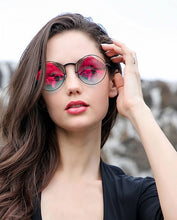 Load image into Gallery viewer, Super Trendy Retro Round Women's High Fashion Sunglasses