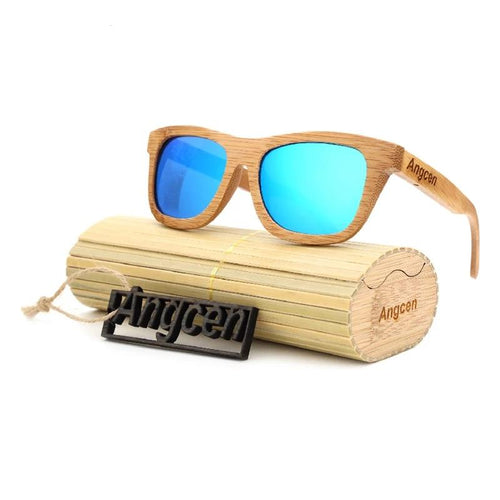 Unisex Sunglasses Polarized Retro Designer Bamboo Wood