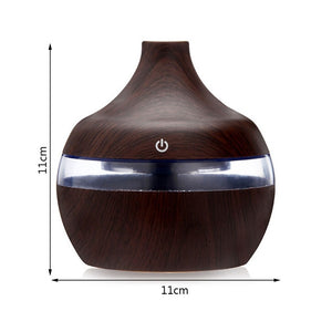 Wood Grain USB Air Freshener Aroma Humidifier Aromatherapy 7 Color LED Lights Electric Essential Oil Aroma Diffuser